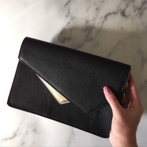 Bebe | Black And Gold Clutch